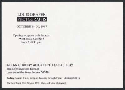 Louis Draper Photographs