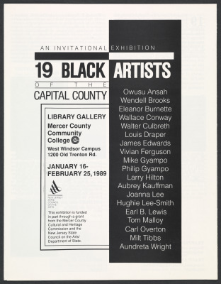 19 Black Artists of the Capital County: An Invitational Exhibition